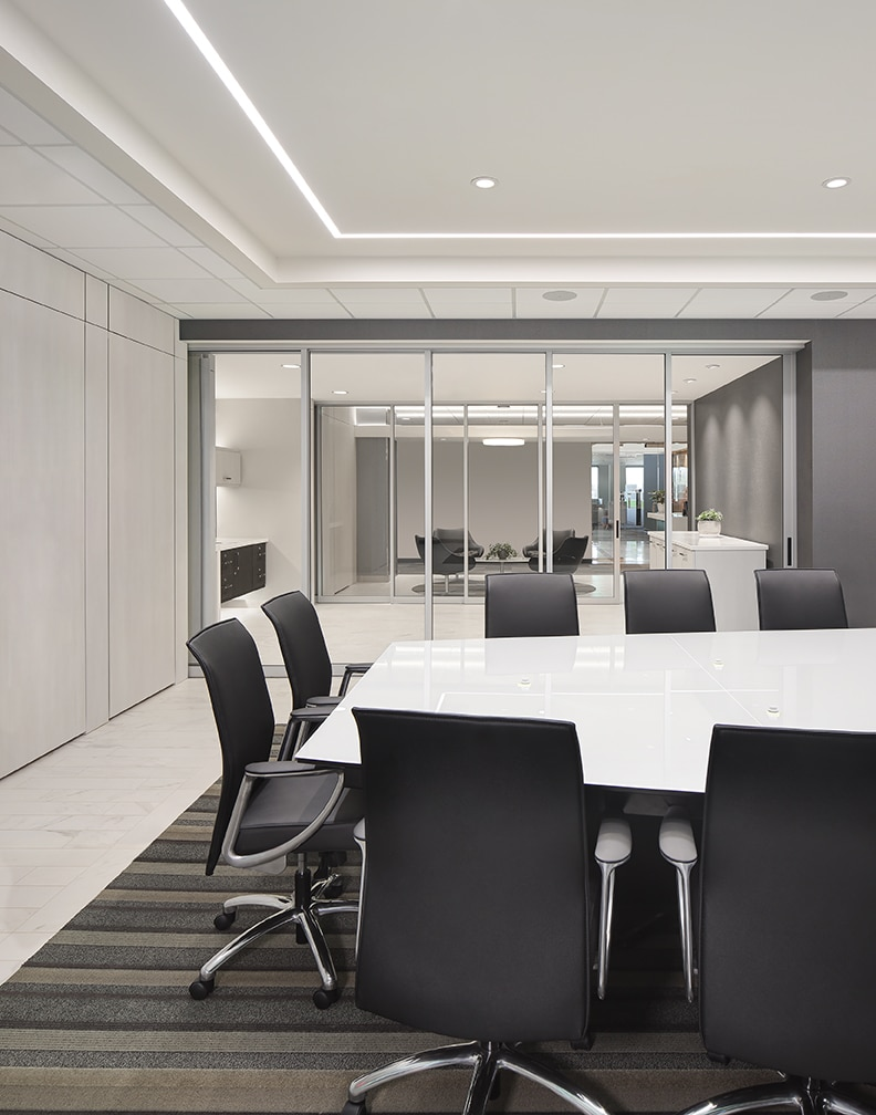 dynamic open office plan conference room
