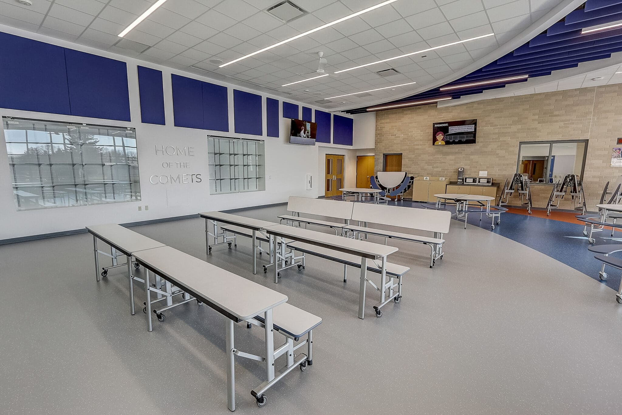 school cafe folding tables